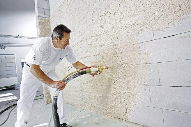 услуги по штукатурке стен механизированным способом
