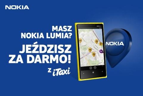 Бесплатное такси для владельцев Nokia Lumia